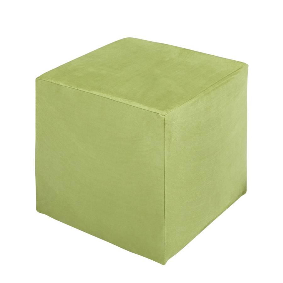 pouf cube fredrik microfibre vert. Black Bedroom Furniture Sets. Home Design Ideas