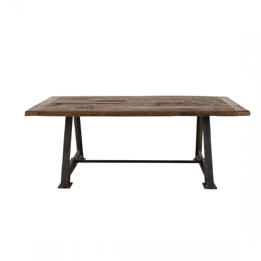 Table de salle manger railway bois flott for Table en bois flotte