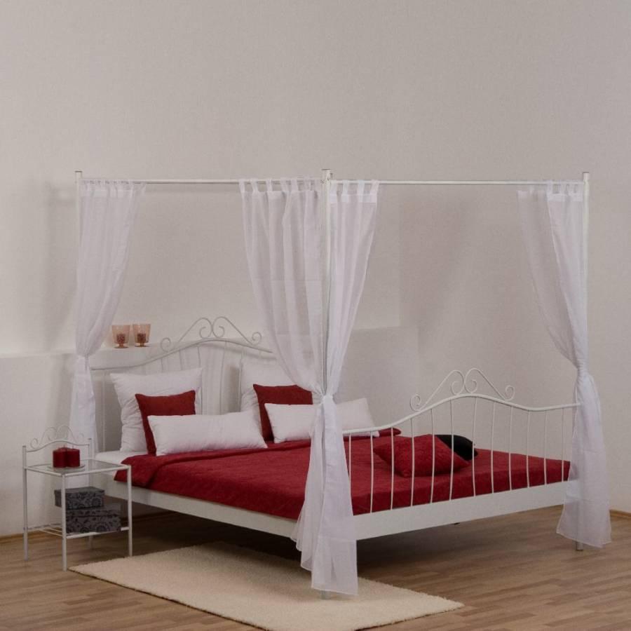 eva himmelbett mit vorh nge home24. Black Bedroom Furniture Sets. Home Design Ideas
