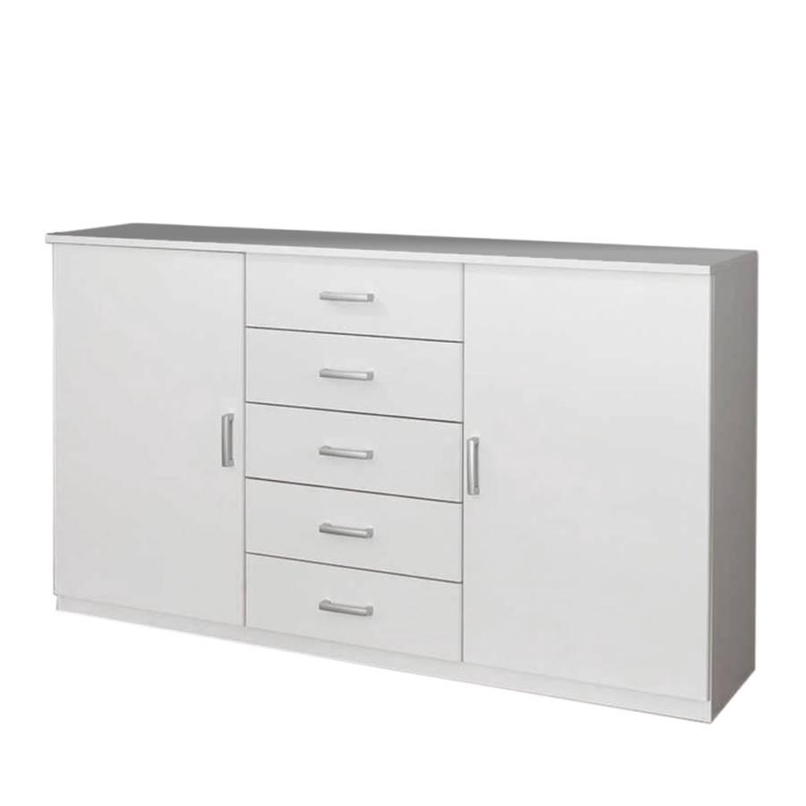 Cassettiera combinata quadra bianco alpino home24 for Home24 kommode