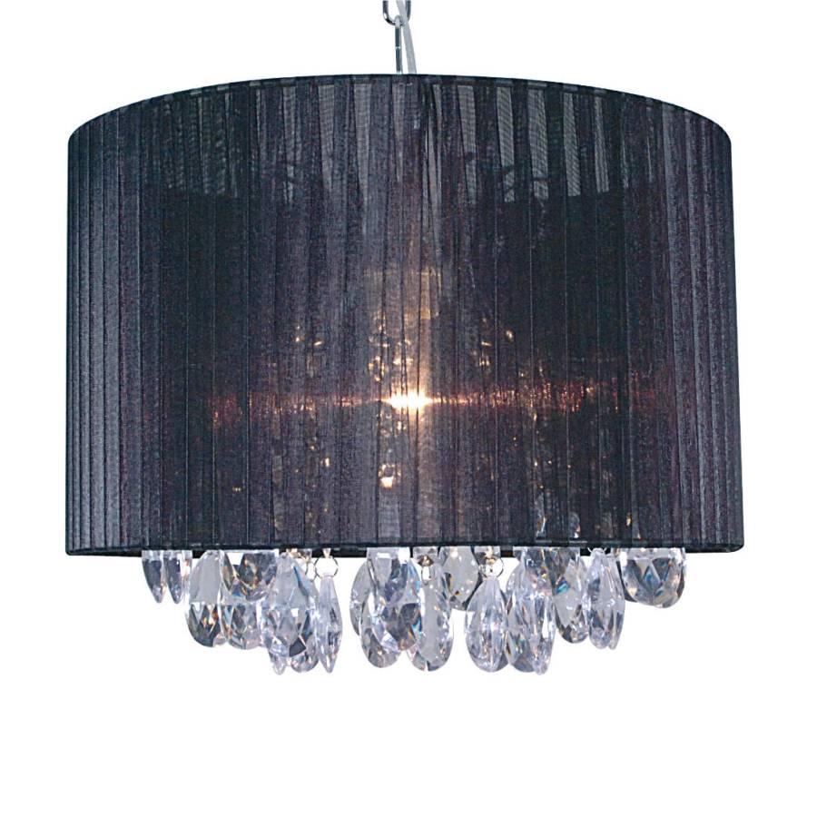 pendelleuchte stoff schwarz 1 flammig home24. Black Bedroom Furniture Sets. Home Design Ideas