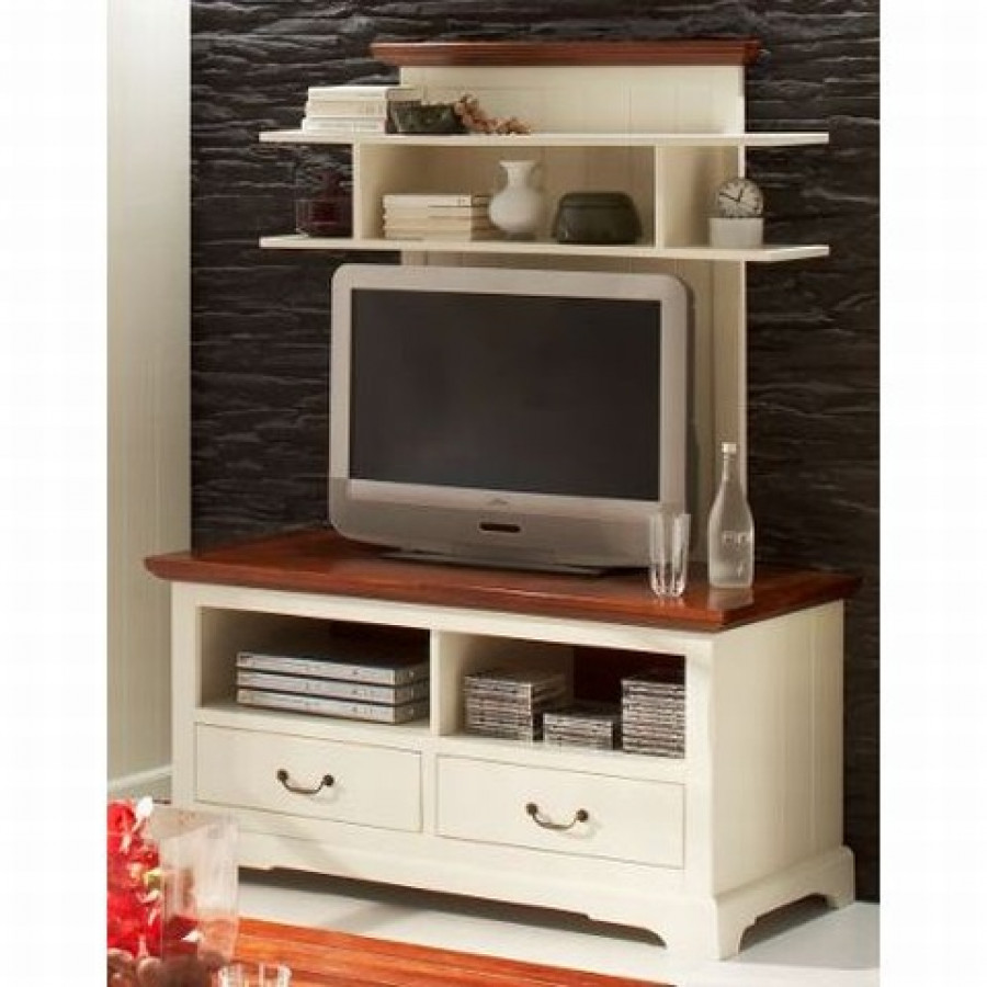 tv meubel provence massief acaciahout antiek wit. Black Bedroom Furniture Sets. Home Design Ideas