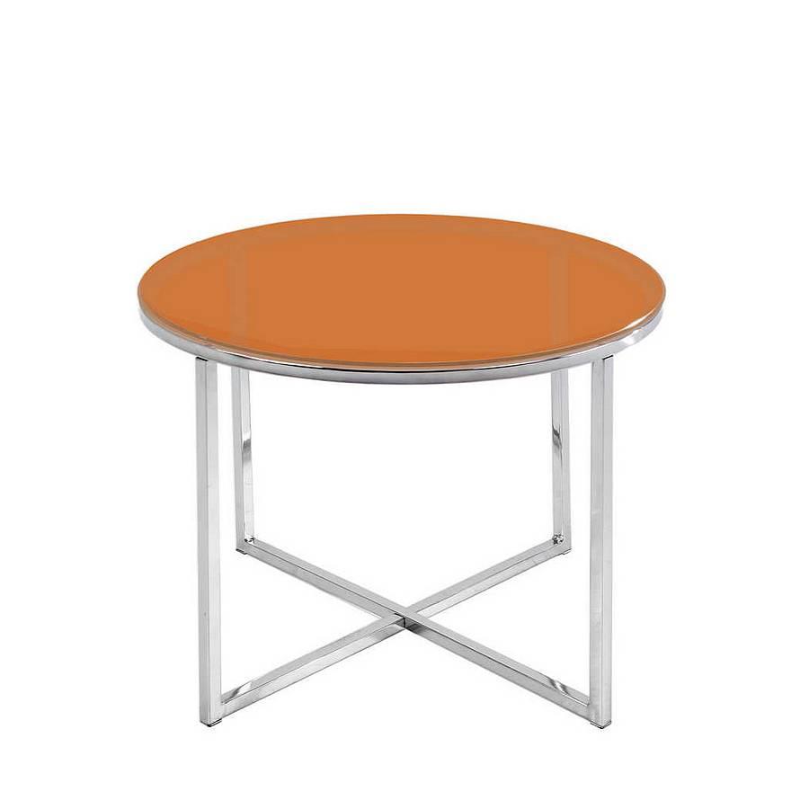 Beistelltisch laos orange rund home24 for Beistelltisch orange