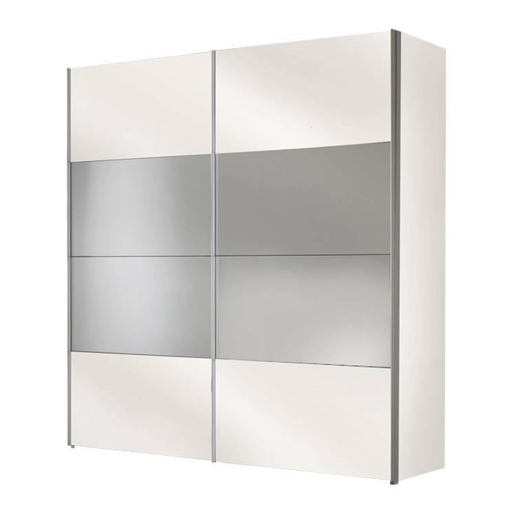 Armoire portes coulissantes laval blanc polaire - Armoire 150 cm portes coulissantes ...