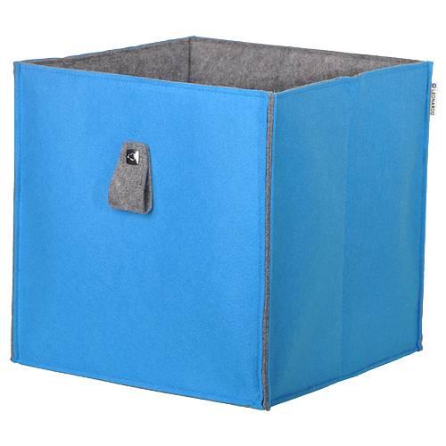 leonardo aufbewahrungsbox filz petrol aqua home24. Black Bedroom Furniture Sets. Home Design Ideas