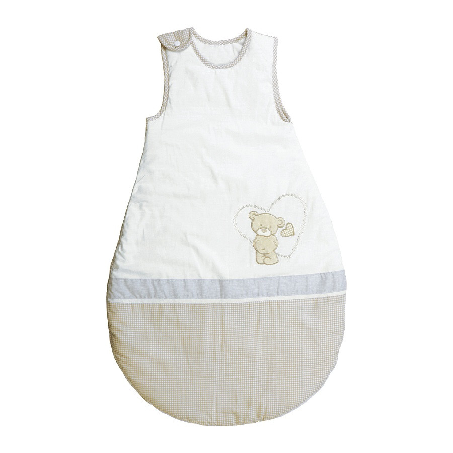 sac de couchage enfant liebhab r 100 coton beige. Black Bedroom Furniture Sets. Home Design Ideas