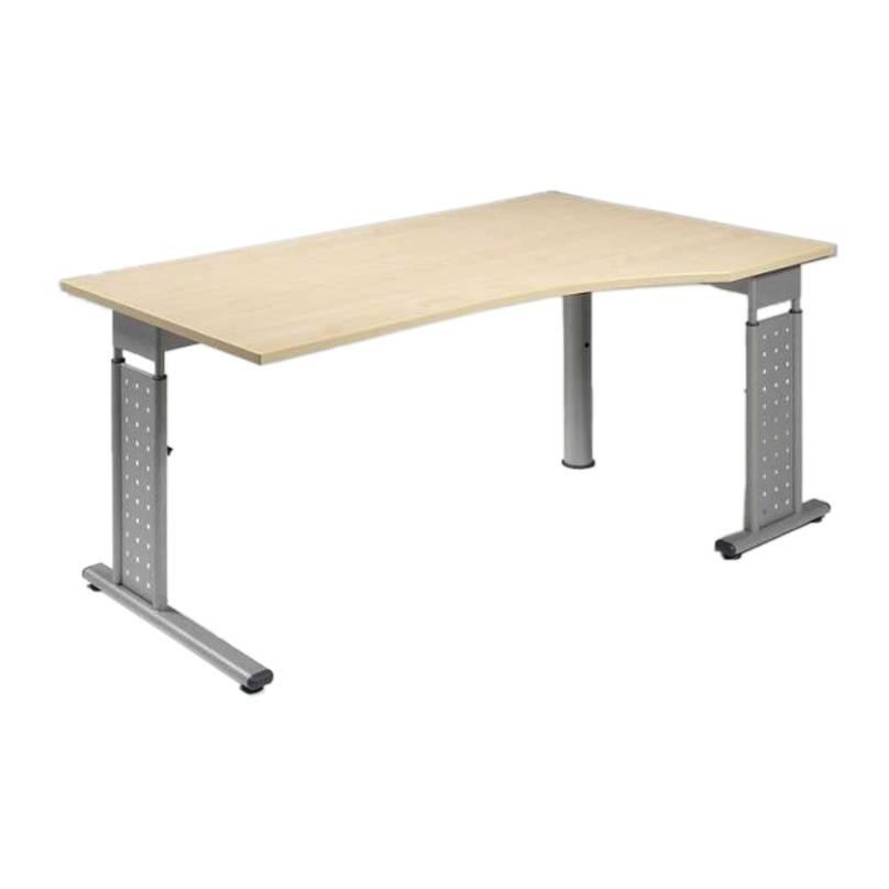 bureau pour ordinateur madrid erable argent 233 hauteur 160 cm 224 droite home24 fr