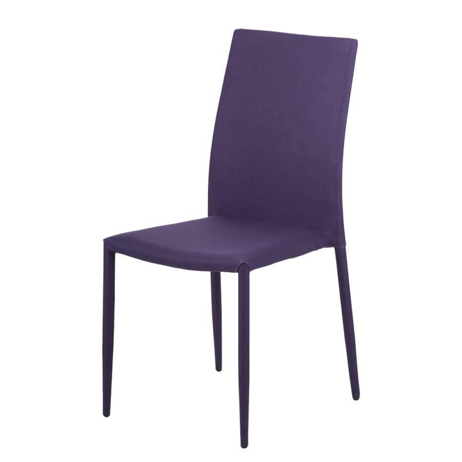 chaise empilable maite violet lot de 2 chaises. Black Bedroom Furniture Sets. Home Design Ideas