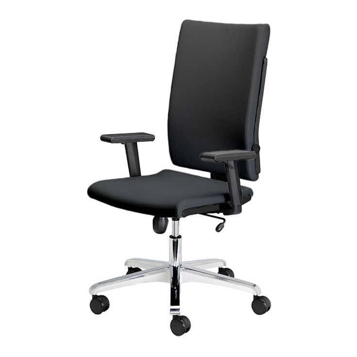 chaise de bureau pivotante milano rev tement textile anthracite. Black Bedroom Furniture Sets. Home Design Ideas