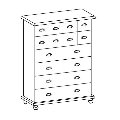 ambrose apothekerschrank kommode gelaugt ge lt home24. Black Bedroom Furniture Sets. Home Design Ideas