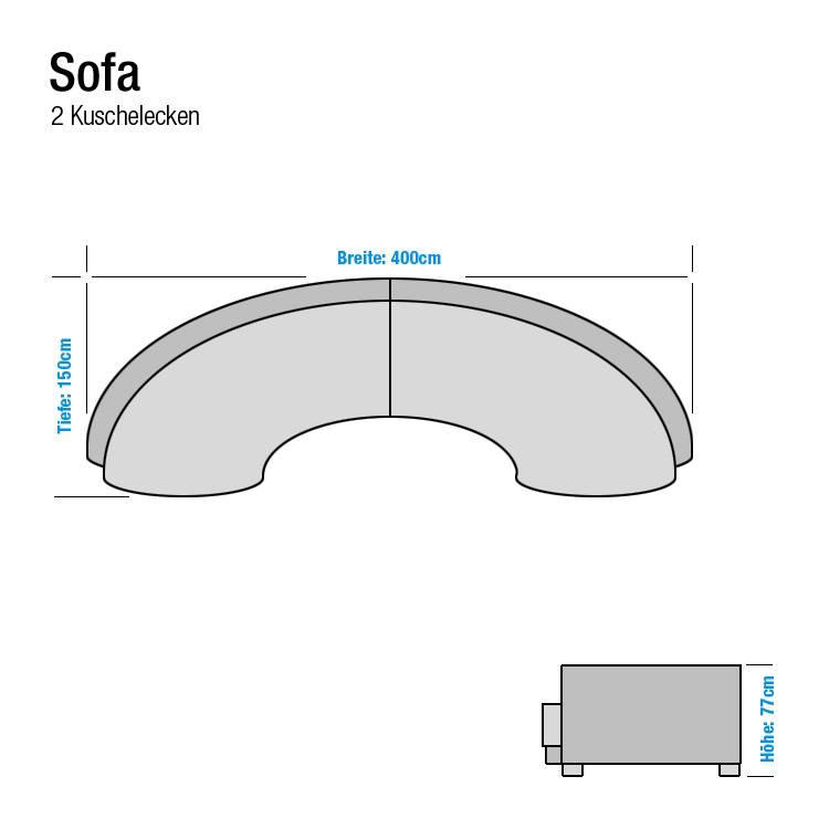 aversa sofa mit zwei kuschelecken home24. Black Bedroom Furniture Sets. Home Design Ideas