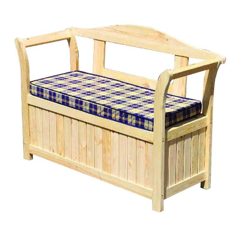 banc montgeron pin massif. Black Bedroom Furniture Sets. Home Design Ideas