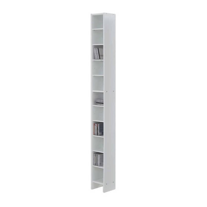 scaffale cd dvd bianco con strato di resina melamminica home24. Black Bedroom Furniture Sets. Home Design Ideas
