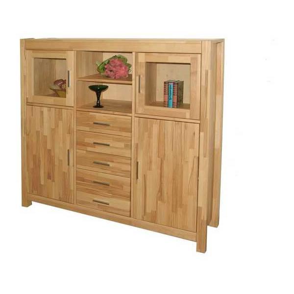 highboard nele kernbuche massiv lackiert home24. Black Bedroom Furniture Sets. Home Design Ideas