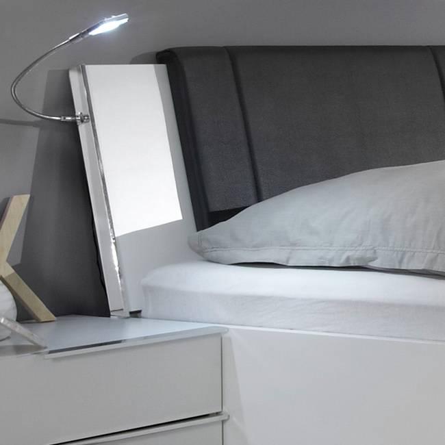 oaklands mission 2 bett mit polster alpinweiss m wi sbe 1435. Black Bedroom Furniture Sets. Home Design Ideas