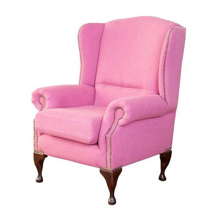 Ohrensessel langdon strukturstoff pink home24 for Ohrensessel sale