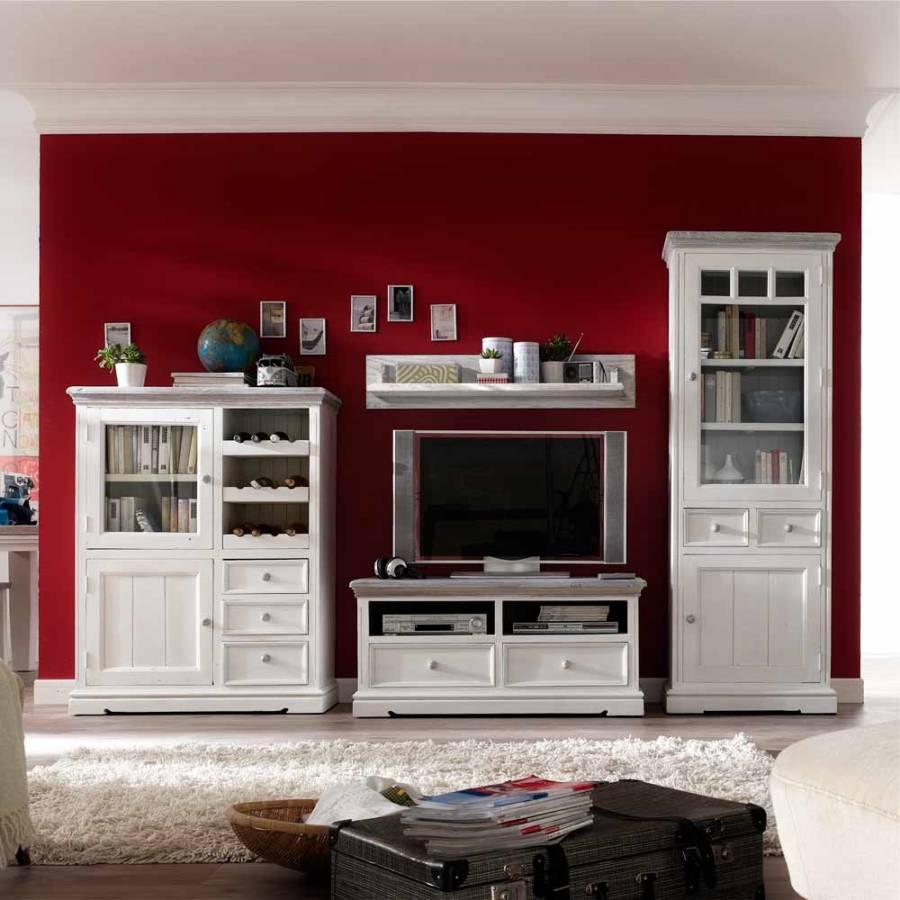 jetzt bei home24 wohnwand von landhaus classic. Black Bedroom Furniture Sets. Home Design Ideas