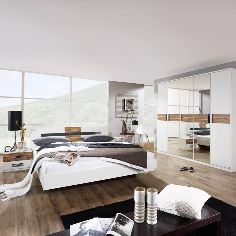 schlafzimmer set brione 4 teilig bett schrank 2 nachtkommoden home24. Black Bedroom Furniture Sets. Home Design Ideas