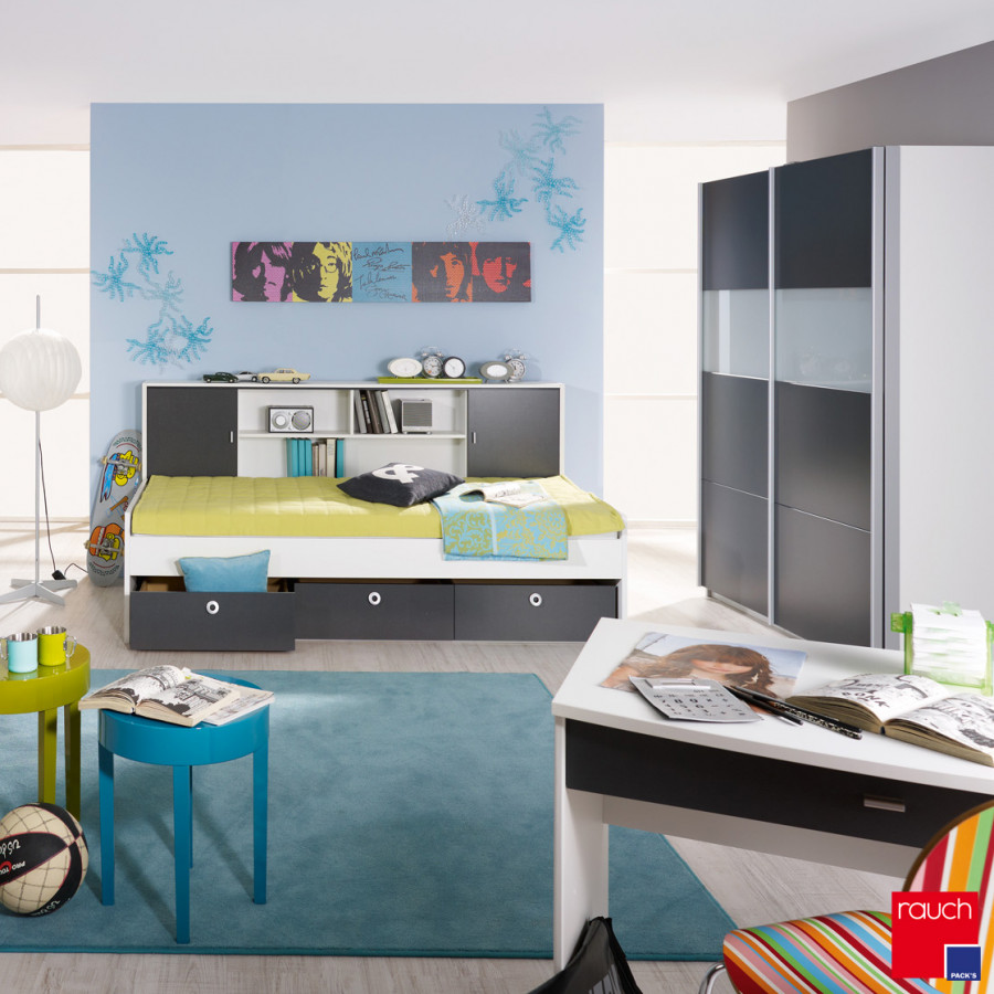 sparset ii chica 3 teilig bett regal berbau schwebet renschrank home24. Black Bedroom Furniture Sets. Home Design Ideas