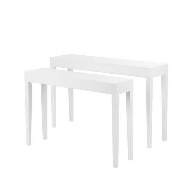 konsolentisch set hochglanz wei home24. Black Bedroom Furniture Sets. Home Design Ideas