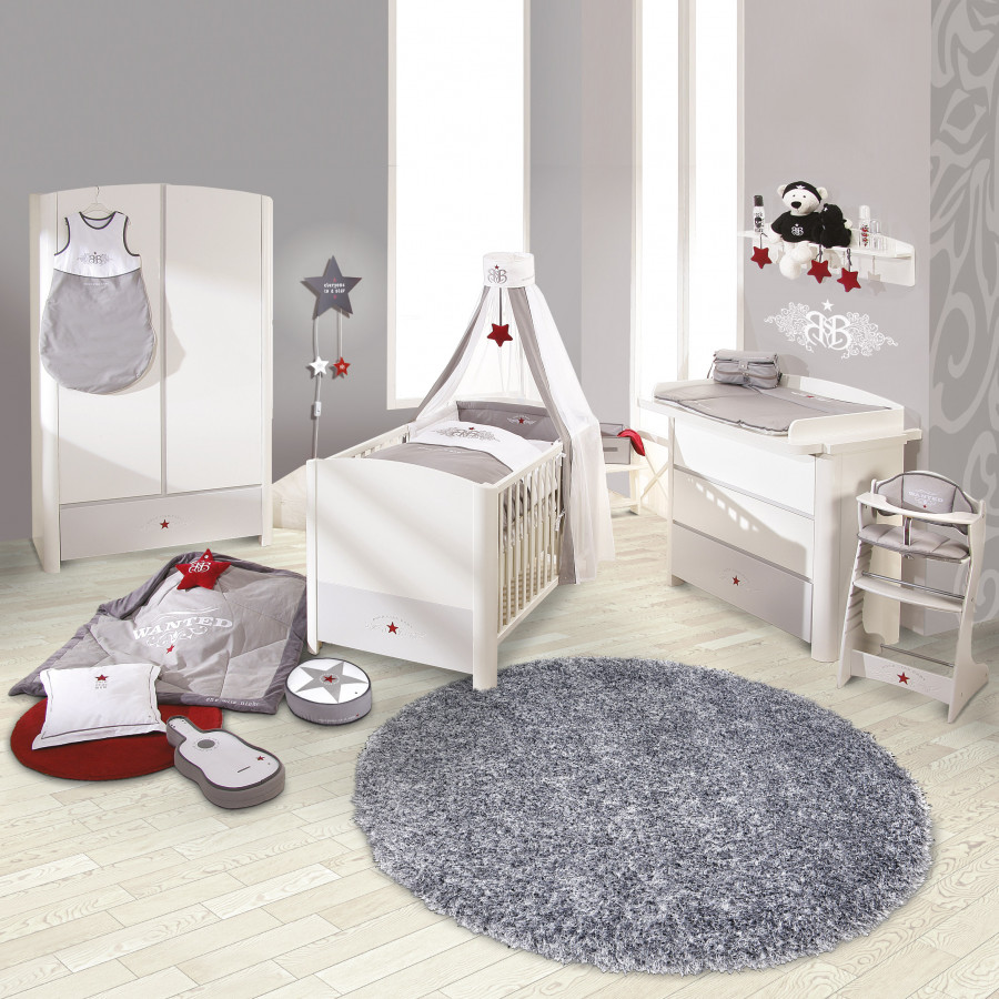 komplettset rock star 3 teilig babybett wickelkommode. Black Bedroom Furniture Sets. Home Design Ideas