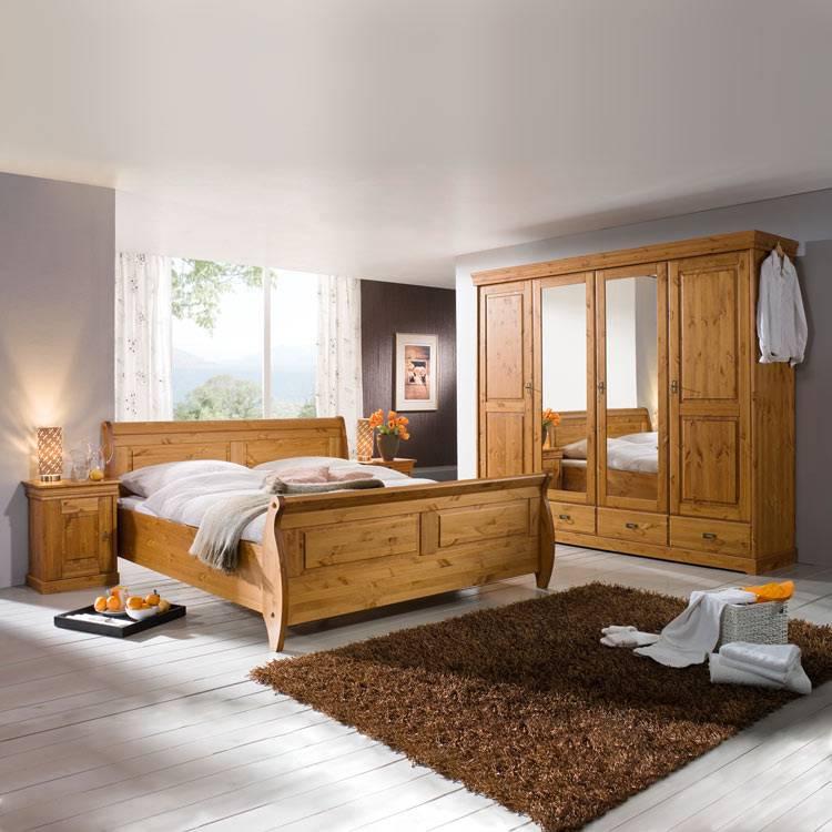 roland schlafzimmerset honig lackiert kaufen home24. Black Bedroom Furniture Sets. Home Design Ideas