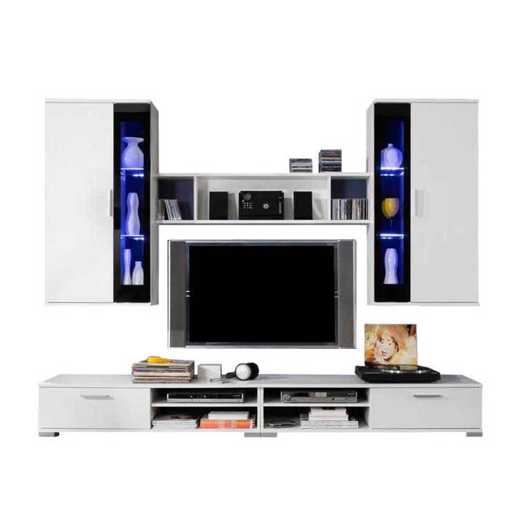 Ensemble meuble tv swing 5 l ments blanc for Ensemble meuble tv blanc