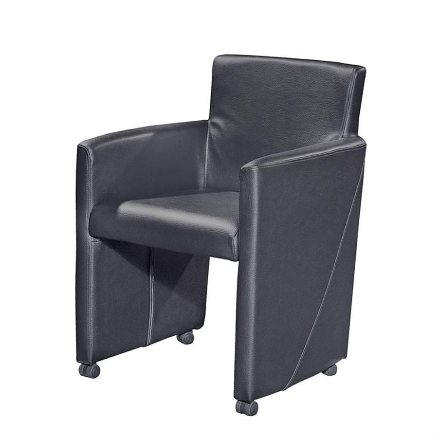 praktisch polsterstuhl tom mit rollen home24. Black Bedroom Furniture Sets. Home Design Ideas