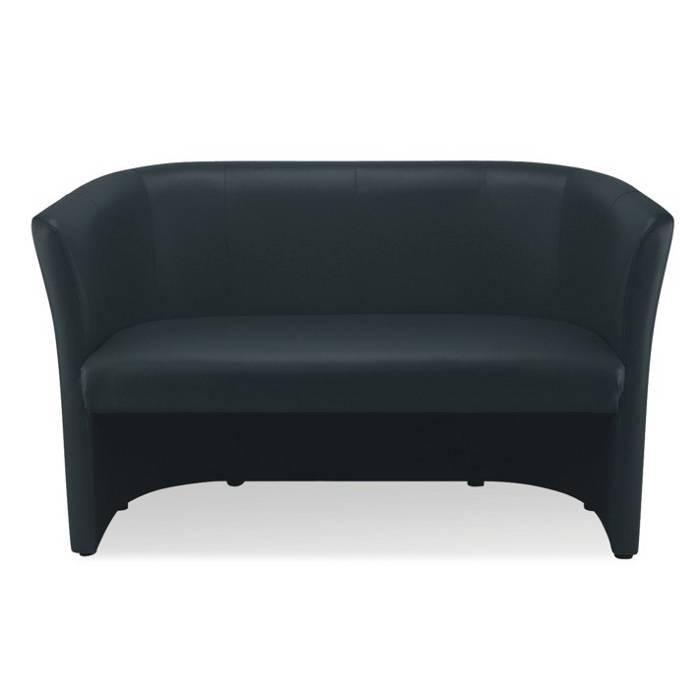 sofa bessola 2 sitzer schwarz home24. Black Bedroom Furniture Sets. Home Design Ideas