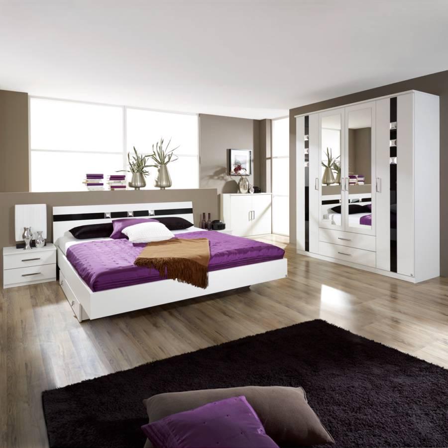 Schlafzimmerset Tours - mit Strass-Applikationen  Home24