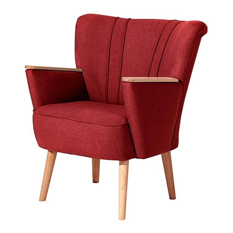 sessel victoria stoff rot home24. Black Bedroom Furniture Sets. Home Design Ideas