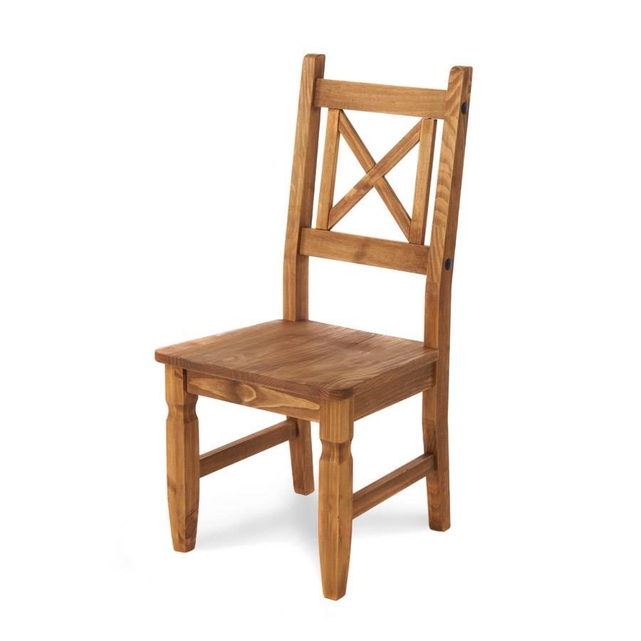 Stuhl Zacateca (2er-Set) - Kiefer massiv  Home24
