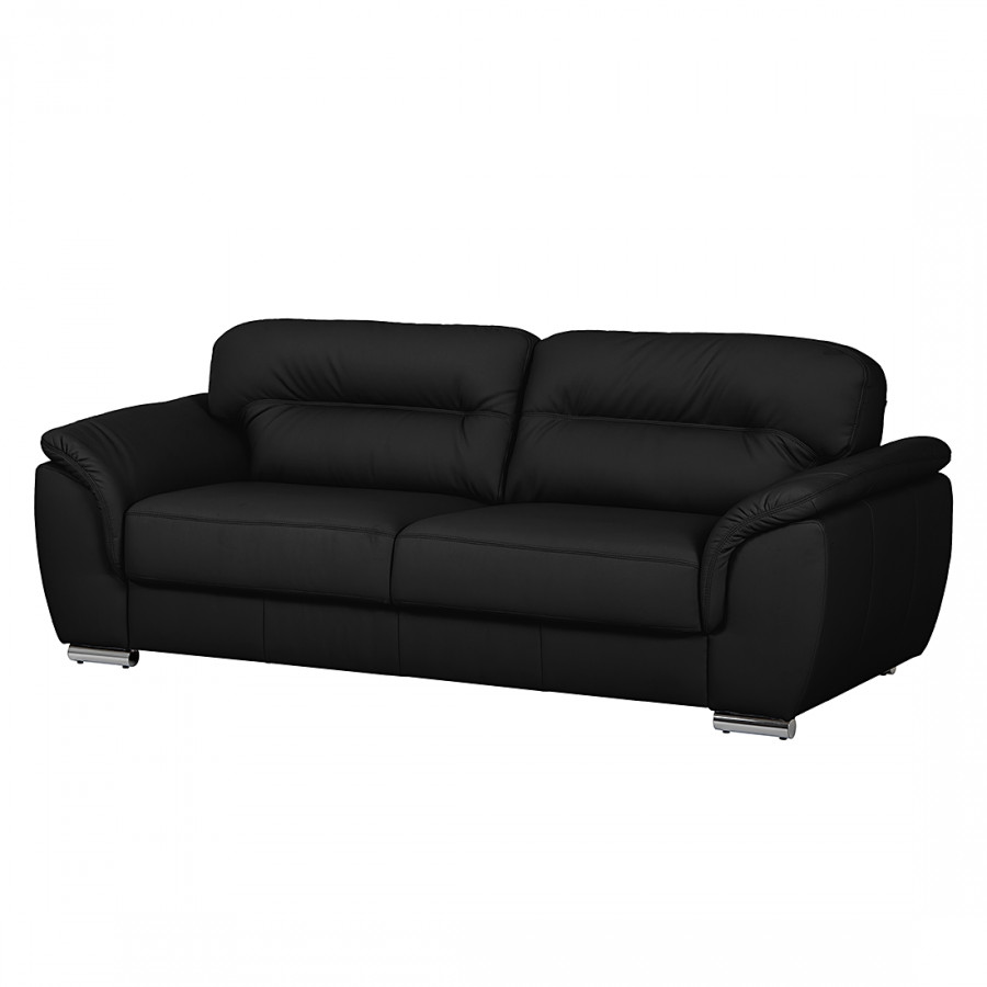 kunstleder couch schwarz 3 sitzer sofa schwarz kunstleder. Black Bedroom Furniture Sets. Home Design Ideas