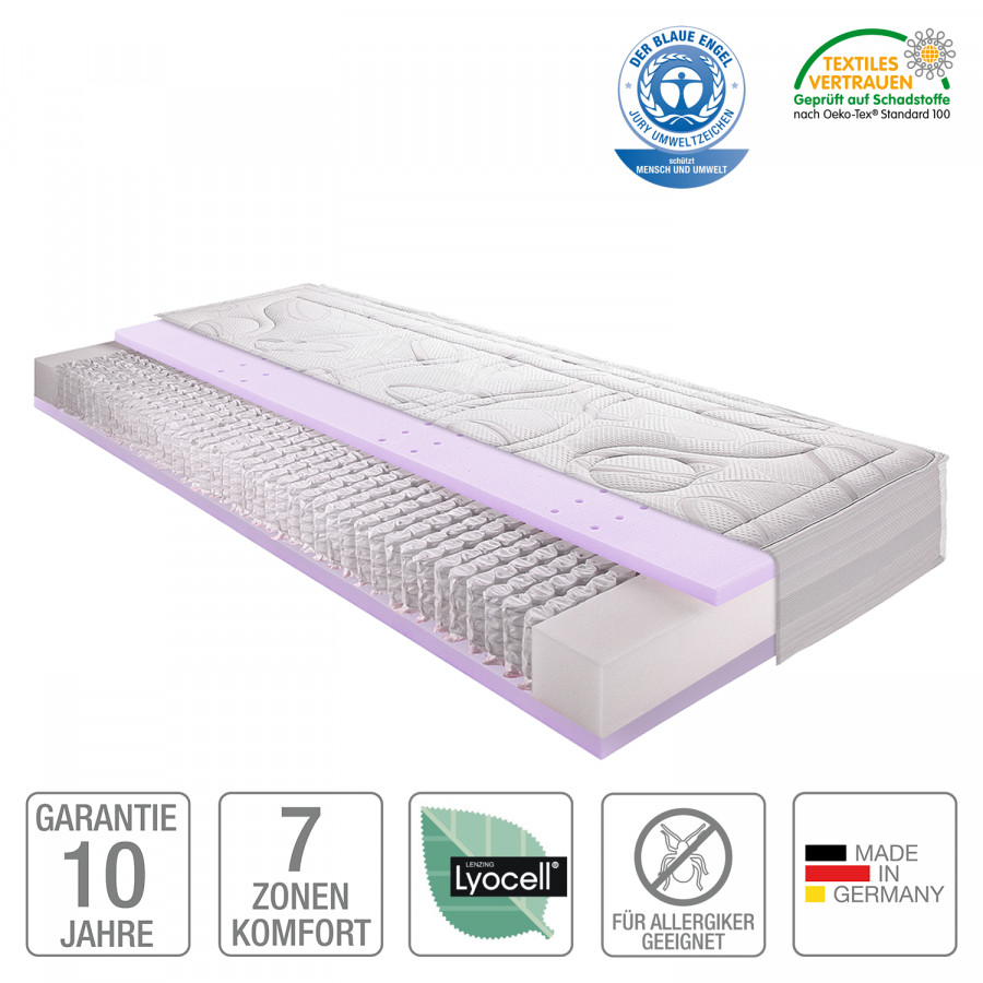 7 zonen micro taschenfederkern gel matratze sleep gel 4. Black Bedroom Furniture Sets. Home Design Ideas
