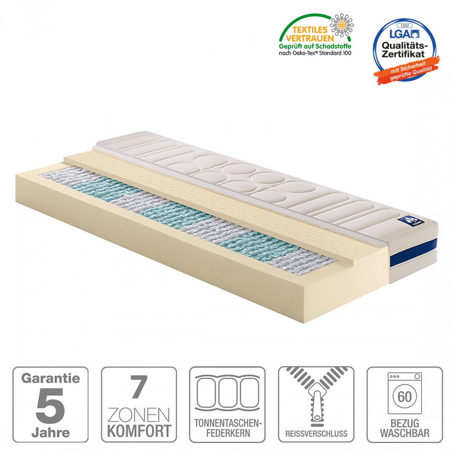 matelas ressorts bomb s ensach s 7 zones irisette vitaflex. Black Bedroom Furniture Sets. Home Design Ideas