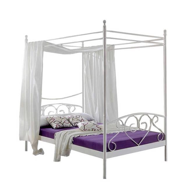 lit baldaquin alice springs blanc. Black Bedroom Furniture Sets. Home Design Ideas