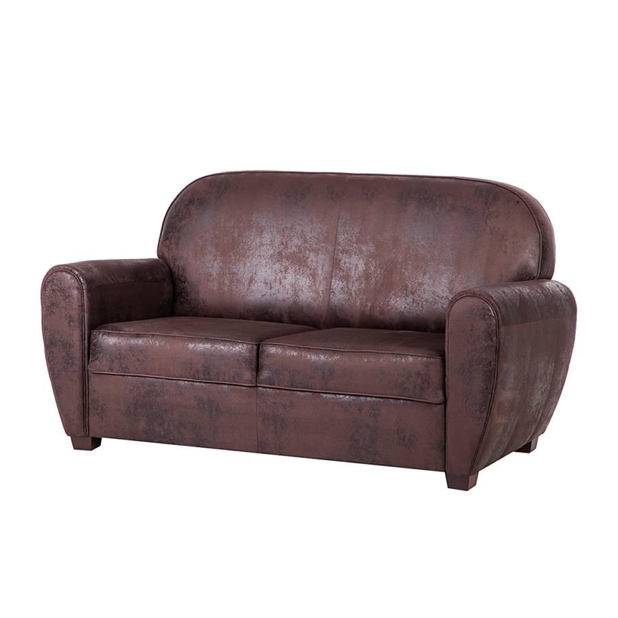 Havanna 2 sitzer einzelsofa f r ein l ndliches heim home24 - Sofa antiklederoptik ...