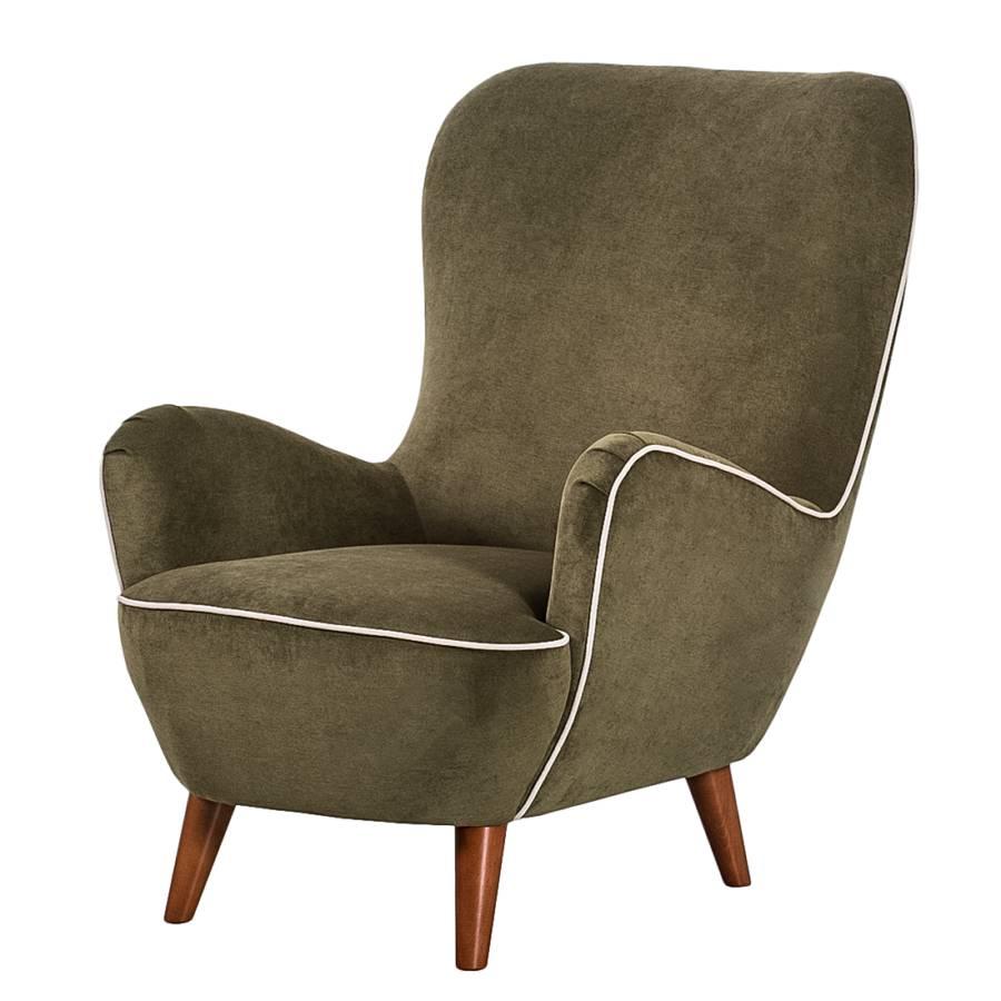 sessel lumi re samtstoff gr n. Black Bedroom Furniture Sets. Home Design Ideas