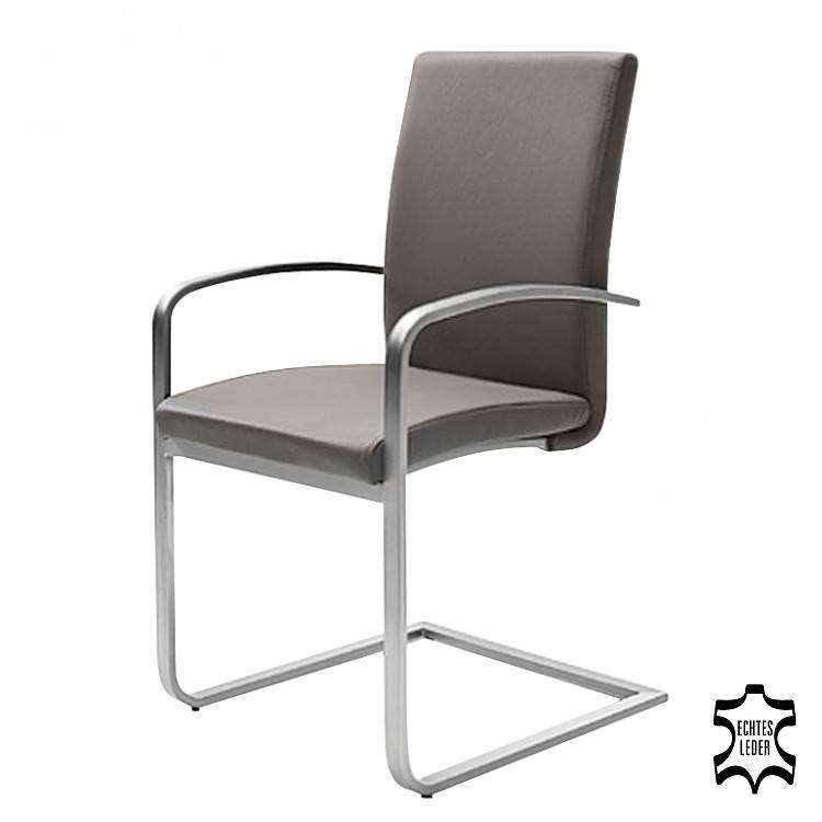 freischwinger augusta ii 2er set echtleder grau. Black Bedroom Furniture Sets. Home Design Ideas