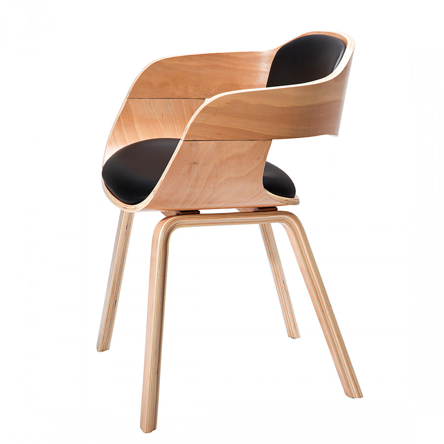 Chaise accoudoirs kare design pour un foyer champ tre for Chaise en bois avec accoudoir