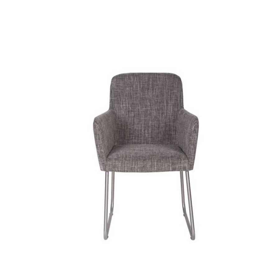 armlehnstuhl felzonas grau silber home24. Black Bedroom Furniture Sets. Home Design Ideas