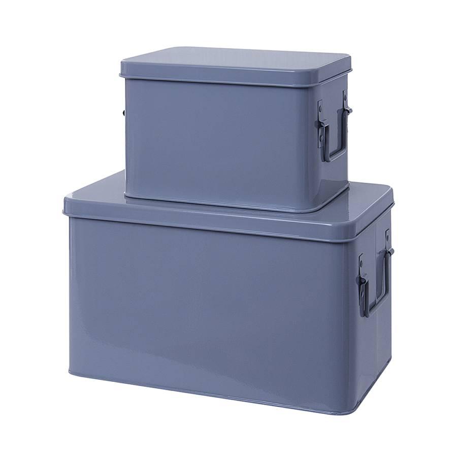 aufbewahrungsboxen metall mausgrau home24