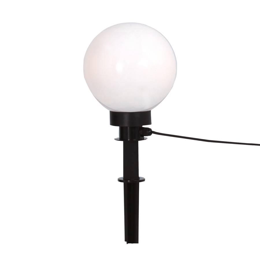 Boule lumineuse pour ext rieur 20 cm 1 ampoule noir for Boule lumineuse exterieur