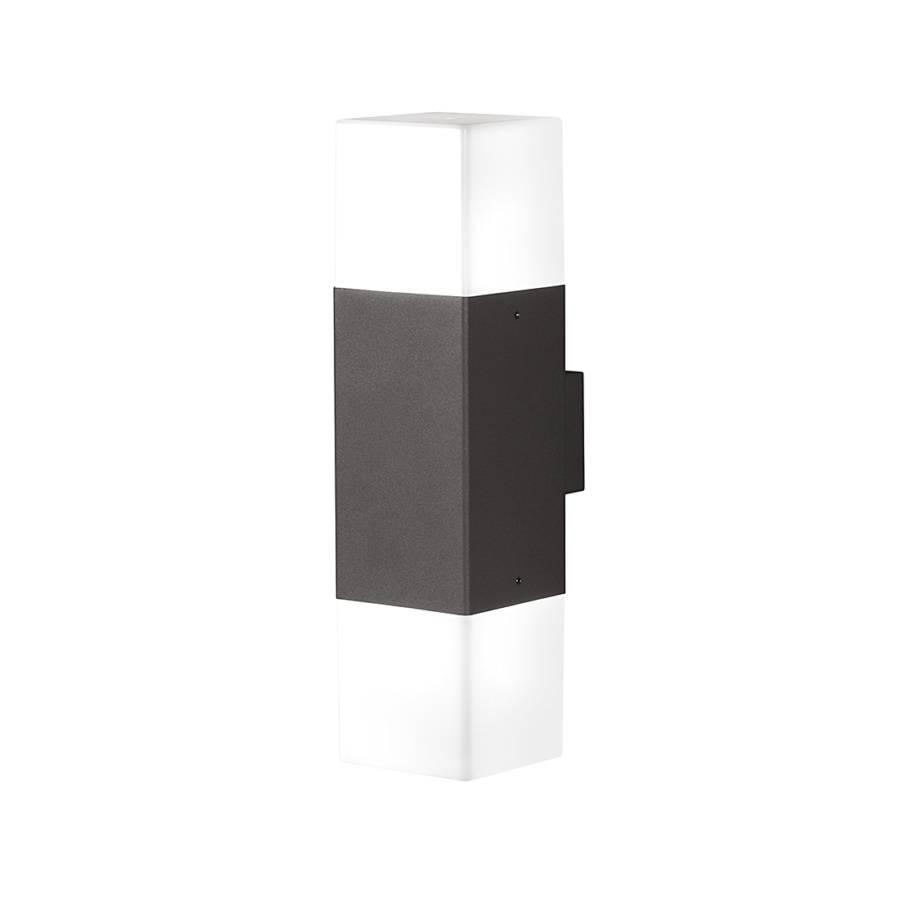 led au enleuchte hudson 2 flammig aluminium kunststoff. Black Bedroom Furniture Sets. Home Design Ideas