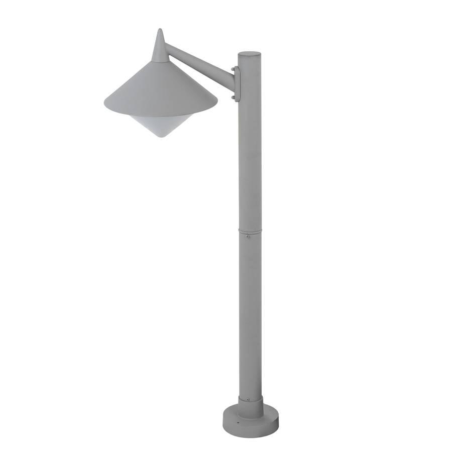 Luminaire d 39 ext rieur manhattan 1 ampoule m tal gris for Luminaires d exterieur