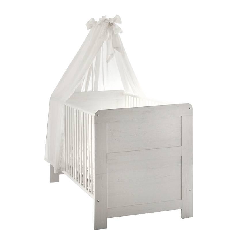 babybett louis buche massiv pinie struktur wei dekor. Black Bedroom Furniture Sets. Home Design Ideas