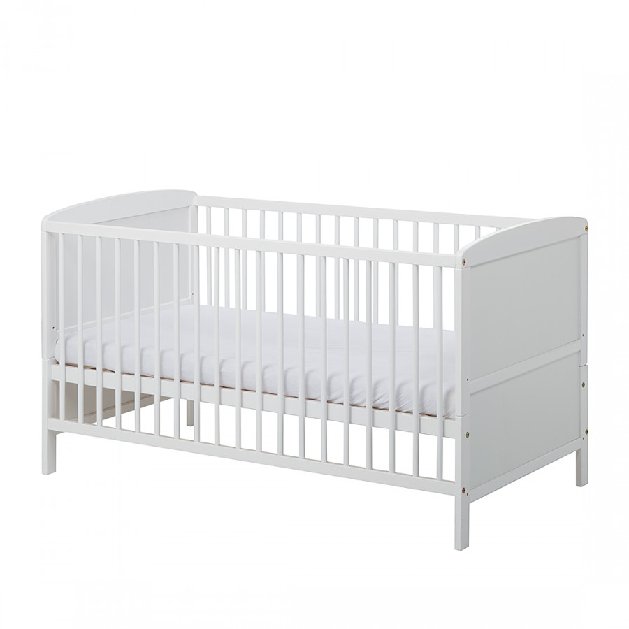 lit pour b b conny pin massif blanc bon prix en ligne. Black Bedroom Furniture Sets. Home Design Ideas