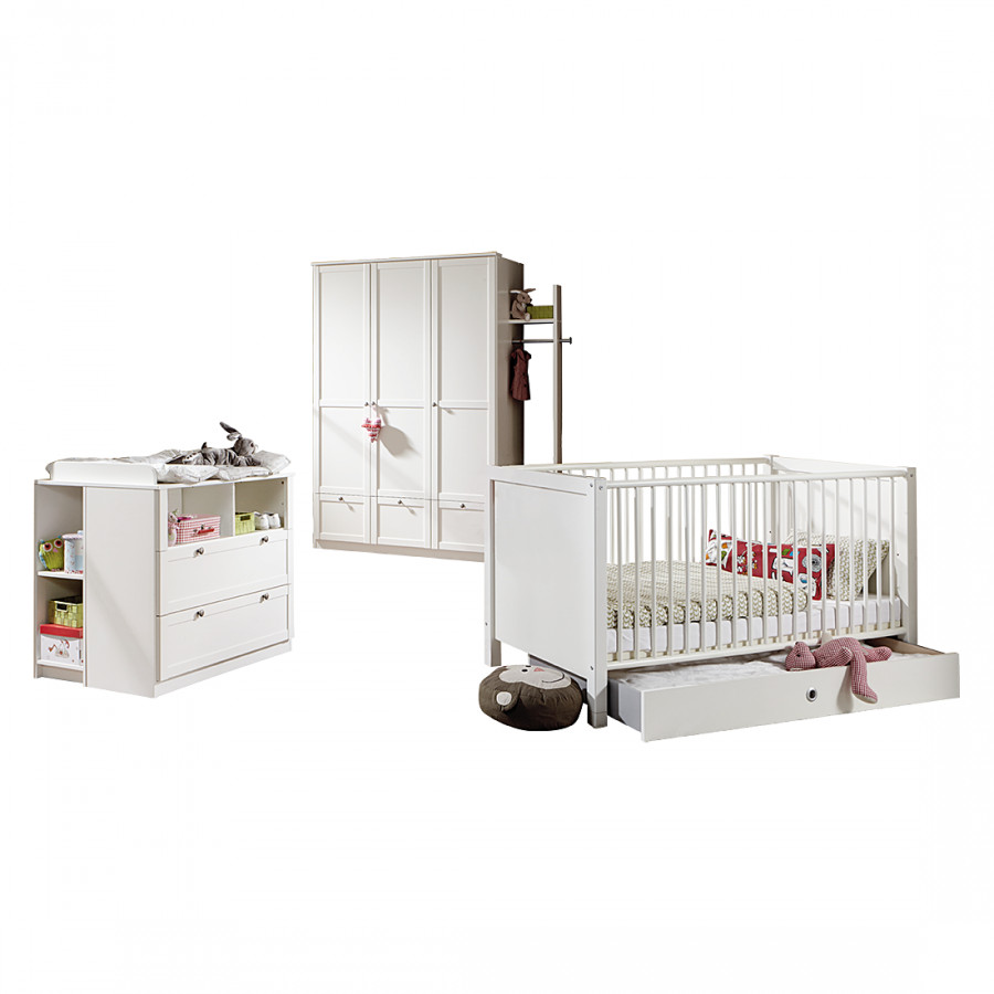 Ensemble chambre bebe blanc kitty design de maison for Ensemble chambre bebe