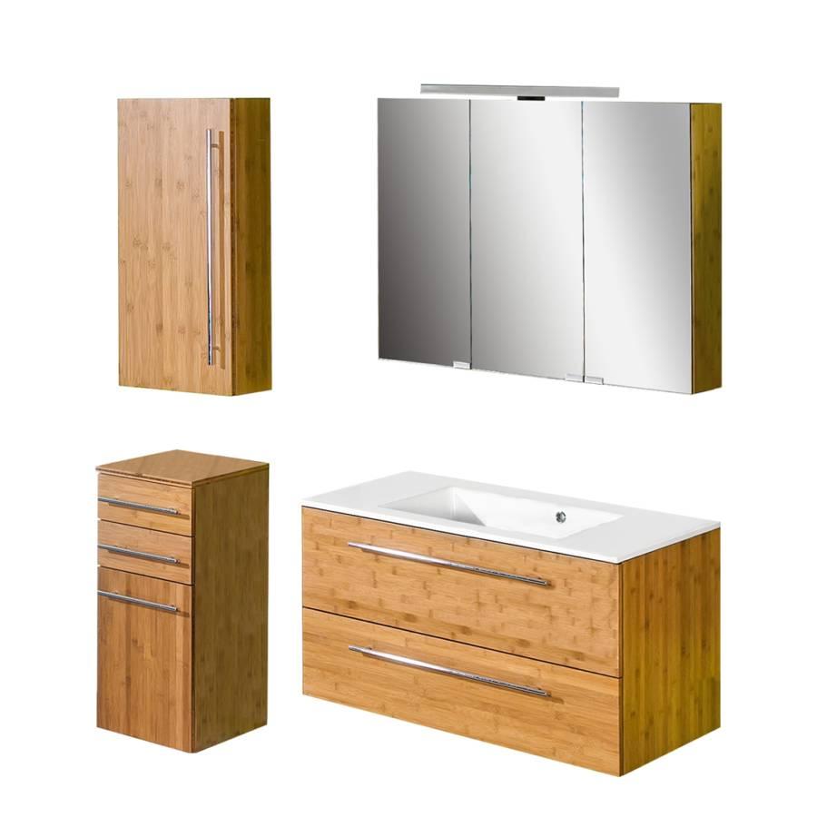 Badezimmerset bern bambus natur lackiert home24 - Bambus badezimmer ...