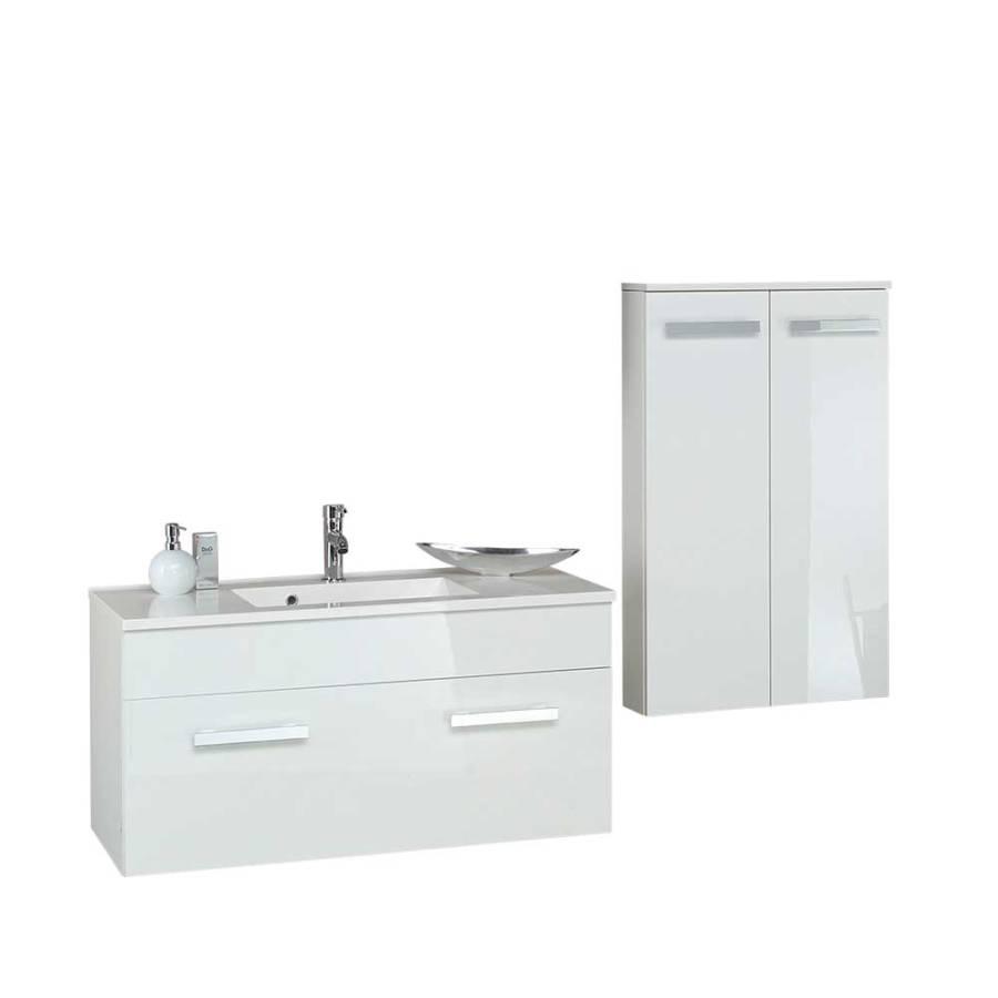 badm bel set presto 2 teilig wei hochglanz home24. Black Bedroom Furniture Sets. Home Design Ideas